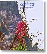 Restful Flowers Metal Print