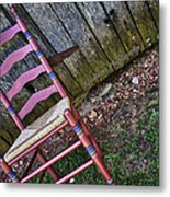 Resting Chair Metal Print
