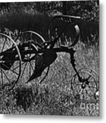 Retired Farmer Metal Print