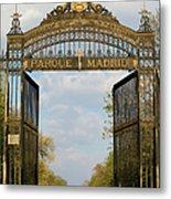Retiro Park Entrance In Madrid Metal Print