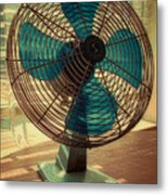 Retro Fan Metal Print by Tony Grider