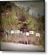 Retro Mailboxes Metal Print by Marcel ter Bekke