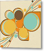 Retro Pattern Metal Print