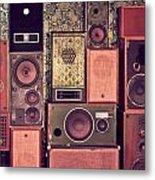 Retro Speakers Metal Print