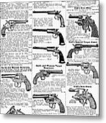 Revolvers And Pistols, 1895 Metal Print