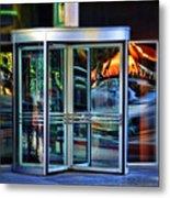 Revolving Doors Metal Print