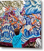 Rex Mardi Gras Parade Viii Metal Print