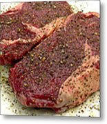 Ribeye Steak... Carnivore Eye Candy Metal Print by James Temple