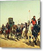 Richard Coeur De Lion On His Way To Jerusalem Metal Print