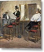 Richmond Barbershop, 1850s Metal Print