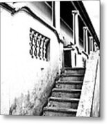 Richmond Stairs Bw Old Hostel Metal Print