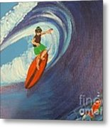 Ride The Waves Metal Print