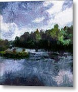 Rideau River View From A Bridge Metal Print