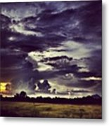 Riders Of The Storm #sky #clouds #drama Metal Print