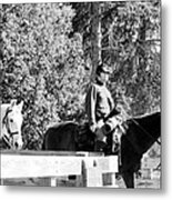 Riding Soldiers B And W II Metal Print