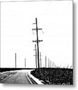 Riding The Line Metal Print