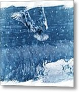Riding The Wave The Gull Metal Print