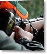 Rifle Training Metal Print