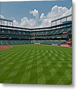 Right To Left At Oriole Park Metal Print