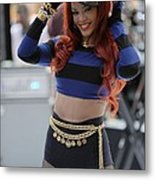 Rihanna At Talk Show Appearance For Nbc Metal Print by Everett