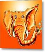 Ringo Party Animal Orange Metal Print