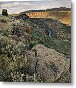 Rio Grande Gorge Above Taos Junction Bridge Metal Print