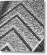 Ripple Effect Bw Palm Springs Metal Print
