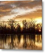 Rising Sun At Crane Hollow Metal Print