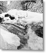 River And Snow II Metal Print