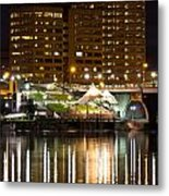 River Front At Night Metal Print
