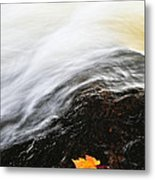 River In Fall Metal Print