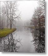 River In The Fog Metal Print