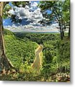 River In The Valley Metal Print