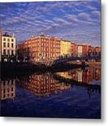 River Liffey And Halfpenny, Bridge Metal Print