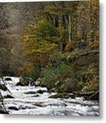 River Lyn In Autumn Metal Print