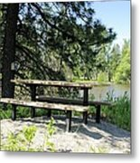 River Rest Stop Metal Print