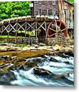 River Rock And A Grist Mill Metal Print