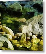 River Rocks 3 Metal Print