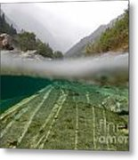 River Surface Metal Print