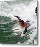 River Surfing Metal Print