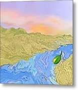 River To The Sea Metal Print