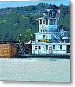 River Transportation Metal Print