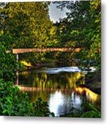 River Walk Bridge Metal Print