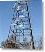 River Walk Tower Sign In West Sacramento California . 7d11400 Metal Print