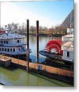 Riverboats Metal Print