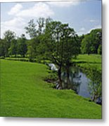 Riverside Meadows - Ashford-in-the-water Metal Print