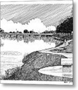 Riverwalk On The Pecos Metal Print by Jack Pumphrey