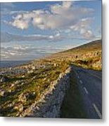 Road Along The Burren Coastline Region Metal Print