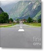 Road And Mountain Metal Print