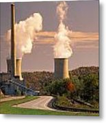 Road And Nuclear Plant.  Kentucky Metal Print